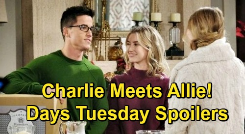 Days of Our Lives Spoilers: Tuesday, December 22 – Nervous Charlie Meets Allie – Shawn & Belle Marry – Will's Surprise Visit