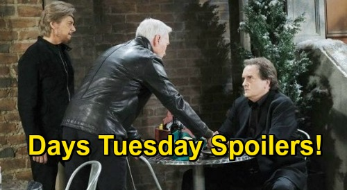 Days of Our Lives Spoilers: Tuesday, January 5 – John & Steve's Charlie Discovery, Cousin Angelo Spills – Allie Shares Clue with Marlena