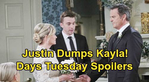 Days of Our Lives Spoilers: Tuesday, July 7 – Steve Decides to Leave Town – Justin Halts Kayla Wedding – Xander's Magic Moment
