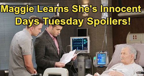 Days of Our Lives Spoilers: Tuesday, May 19 – Maggie Survives, Learns She's Innocent – Sonny & Justin's Crash Shocker