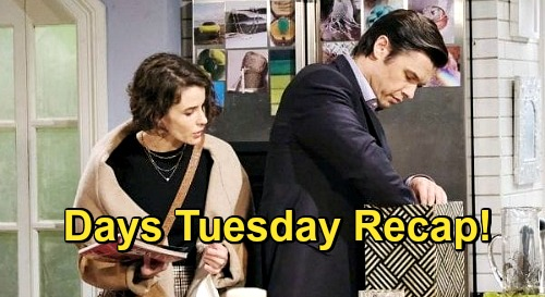 Days of Our Lives Spoilers: Tuesday, November 24 Recap - Sarah & Xander Get A Clue - John Kills Jan - Charlie The Hero