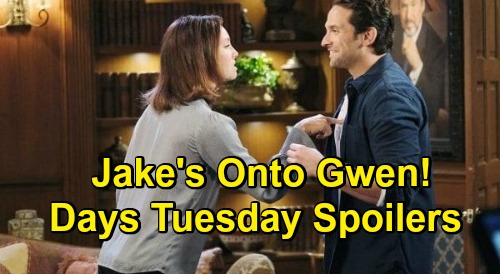 Days of Our Lives Spoilers: Tuesday, November 3 – Ben Faces Life Without Ciara – Tripp Blasts Steve – Jake & Gwen Spar