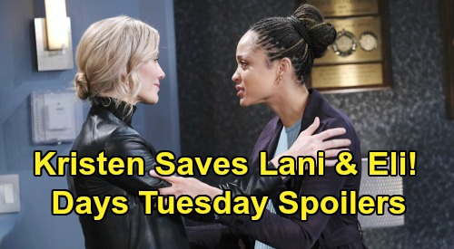 Days of Our Lives Spoilers: Tuesday, October 13 – Gwen's Doomed Party Plan – Kristen Pleads Guilty to Save Eli & Lani's Marriage