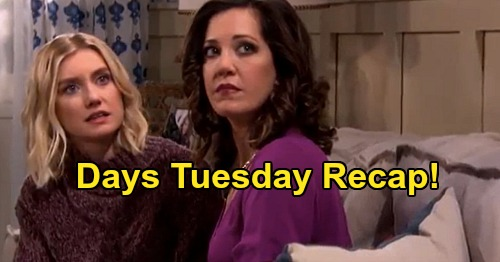 Days of Our Lives Spoilers: Tuesday, September 15 Recap Jan & Claire Bond, Belle Freaks - Lani Freezes Eli Out