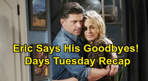 Days of Our Lives Spoilers: Tuesday, September 22 Recap - Eric Says Goodbye - Sami Tries To Run With Allie's Baby - Lani Forgives Eli