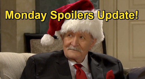 Days of Our Lives Spoilers Update: Monday, December 21 – Kiriakis Christmas Surprises – Xander's Date – Philip Suspects Sarah
