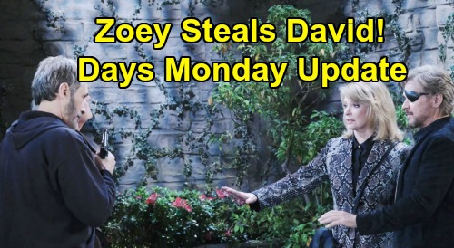 Days of Our Lives Spoilers Update: Monday, May 25 – Zoey Steals David - Steve Captures Orpheus – Nicole Betrays Kate
