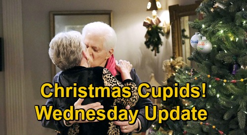 Days of Our Lives Spoilers Update: Wednesday, December 23 – Claire Gives Ben Ciara's Surprise – Doug & Julie Christmas Cupids