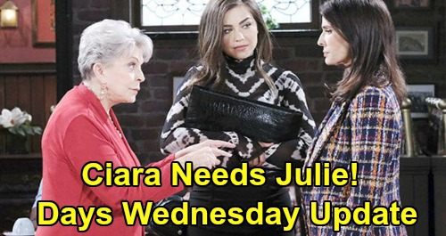 Days of Our Lives Spoilers Update: Wednesday, May 27 – Ciara Needs Julie's Wedding Favor – Gabi Attacks Jake – Goodbye Chad & Abby