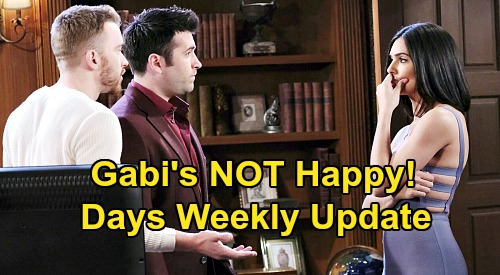 Days of Our Lives Spoilers Update: Week of August 17 - Gabi's Startling 'WilSon' News - Paige Visits Paige - Philip's Return
