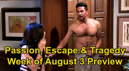 Days of Our Lives Spoilers Update: Week of August 3 Preview – Jake & Gabi Shocker - Ben's Escape Attempt - Evil Enters Salem