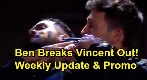 Days of Our Lives Spoilers Update: Week of October 26 – Ben Holds Eli at Gunpoint, Breaks Vincent Out – Evan Fights Marlena's Freedom Offer
