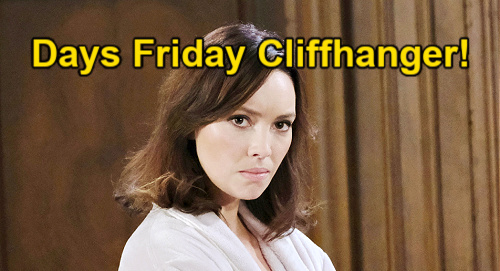 Days of Our Lives Spoilers Update: Friday, May 21 – Claire Rejected & Snatched - Jan Goes Wild – Gwen's New Deal