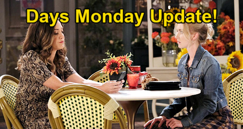 Days of Our Lives Spoilers Update: Monday, May 24 – Claire is Jan's Getaway Driver – Jordan Adds to Ben's Pain – Tripp Blunders