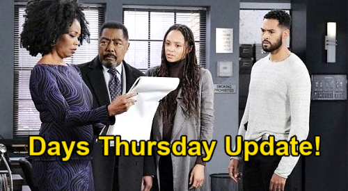 Days of Our Lives Spoilers Update: Thursday, January 14 – Valerie & Lani Recognize Dr. Raynor Sketch – Vivian the Mastermind