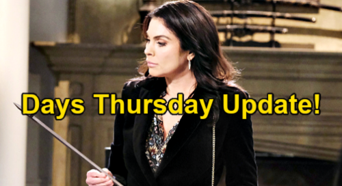 Days of Our Lives Spoilers Update: Thursday, May 13 – Chloe's Discovery – Brady Spills Kristen's Secret – Sami & Lucas Trapped
