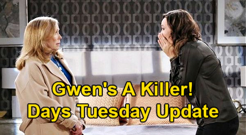 Days of Our Lives Spoilers Update: Tuesday, February 9 – Gwen's a Killer, Laura's Accidental Death - Xander's News Stuns Sarah