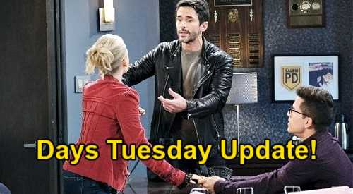 Days of Our Lives Spoilers Update: Tuesday, January 12 – Allie's Mission Ruined – Charlie Manipulates Claire, Shawn Intervenes