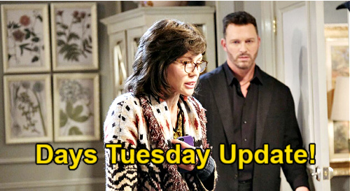Days of Our Lives Spoilers Update: Tuesday, March 30 – Ciara Confides in Theo – Susan Panics, Brady Suspects 'Kristen'