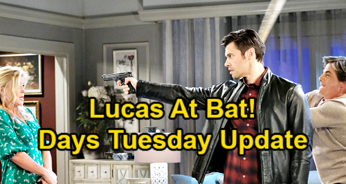 Days of Our Lives Spoilers Update: Tuesday, May 25 – Lucas Attacks Xander with Baseball Bat – Ben Faces Shawn's Gun