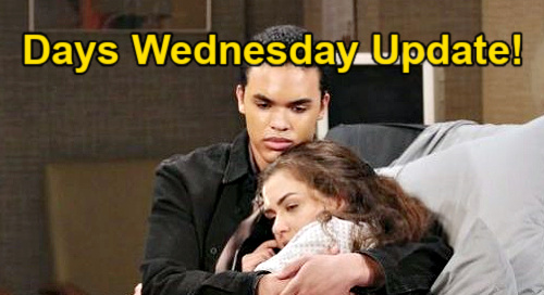 Days of Our Lives Spoilers Update: Wednesday, April 7 –Theo Holds Ciara - Ben & Claire Comfort – Abigail & Gwen Try Truce