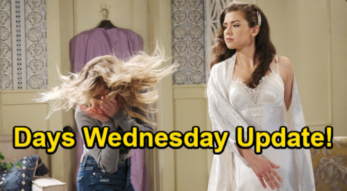 Days of Our Lives Spoilers Update: Wednesday, July 21 – Bridezilla Ciara Slaps Claire – Eli Comforts Rejected Chanel