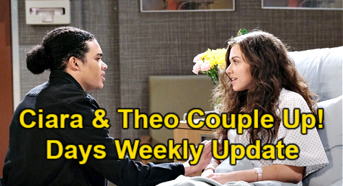 Days of Our Lives Spoilers Update: Week of April 19 – Theo & Ciara Couple Status – Vivian Threat – Xander Get-Rich-Quick Scheme