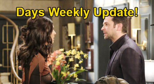 Days of Our Lives Spoilers Update: Week of July 5 – Xander & Gwen Kiss – Jake & Gabi Have Kristen's Letter – Paulina's Sad Excuses