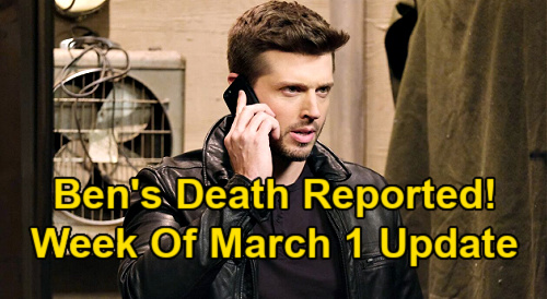 Days of Our Lives Spoilers Update: Week of March 1 – Ciara Sobs Over Ben's Tragic Death Report – Xander's Kilt Disaster