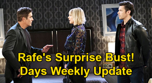 Days of Our Lives Spoilers Update: Week of May 24 – Belle Prison Stint for Claire – Rafe Busts Xander & Nicole – EJ Plays Dirty
