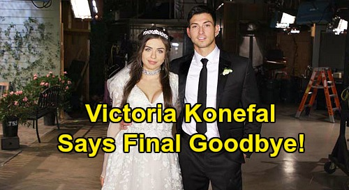 Days of Our Lives Spoilers: Victoria Konefal Confirms Exit - Says Goodbye, Thanks DOOL Fans