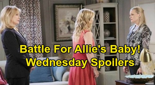 Days of Our Lives Spoilers: Wednesday, August 12 – Claire Hides Allie's Location – Sami Fights For Baby Boy