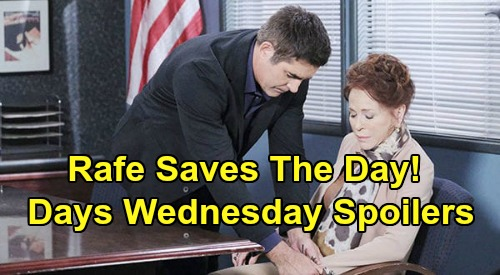 Days of Our Lives Spoilers: Wednesday, July 1 – Rafe & Vivian Gun Struggle – DNA Bombshell - Claire & Ciara Wedding Dress Drama