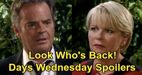 Days of Our Lives Spoilers: Wednesday, July 8 – Bonnie's Cemetery Shocker – Kayla Races to Find Steve – Marlena Consoles John