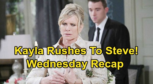 Days of Our Lives Spoilers: Wednesday, July 8 Recap - Kayla Rushes To Stop Steve From Leaving - Justin Sees A Ghost