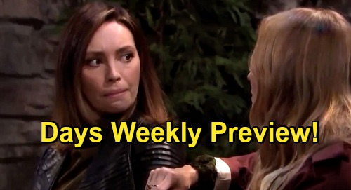 Days of Our Lives Spoilers: Week of December 7 Preview - Xander Suspects Charlie - Kayla Strangles Ava - Gwen's Flower Attack