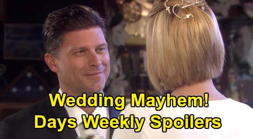 Days of Our Lives Spoilers: Week of July 13 – Shocking Jake Truth Revealed – Sami Back & Bossy – Eric & Nicole Wedding Mayhem