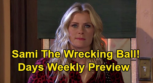 Days of Our Lives Spoilers: Week of July 13 Preview - Sami Crashes Nicole & Eric's Wedding - Wild Brawl As Mom Learns Allie Pregnant