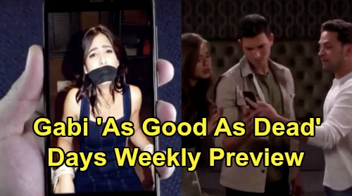 Days of Our Lives Spoilers: Week of June 1 Preview - Gabi Kidnapped, 'As Good As Dead' - Jake's Organized Crime Mess - Claire Returns