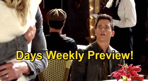 Days of Our Lives Spoilers: Week of November 30 Preview - Charlie Resents Ben With Claire - Chloe Reunites With Brady & Philip