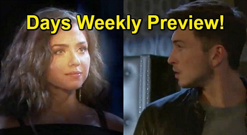 Days of Our Lives Spoilers: Week of October 19 Salem Blackout Preview - Ben Sees Ciara - Orpheus Traps Marlena - Rolf Targets Chad
