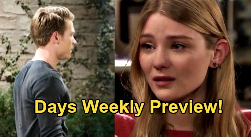 Days of Our Lives Spoilers: Week of September 28 Preview - Allie's Fuzzy Memories, Outcry Against Tripp - Nicole Vows Support
