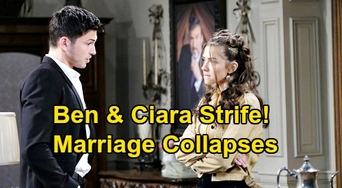 Days of Our Lives Spoilers: Will Ben & Ciara Divorce After Newlywed Drama – Can 'Cin' Marriage Survive?