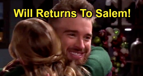 Days of Our Lives Spoilers: Will Returns - Celebrates Christmas With The Hortons - Chandler Massey Back