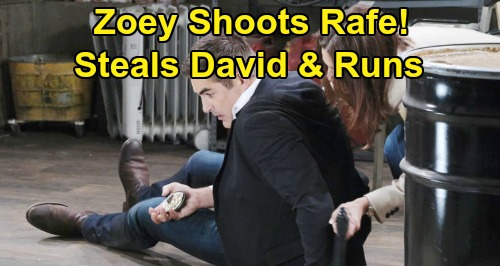 Days of Our Lives Spoilers: Zoey Shoots Rafe - David Missing After Orpheus' Daughter Snatches Nephew and Runs