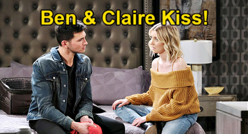 Days of Our Lives Spoilers: Ben & Claire Kiss – Ciara Double Rejection Leads to Next Step in Growing Bond?