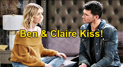 Days of Our Lives Spoilers: Ben & Claire Kiss – Passion Breaks Out When Ciara Heartbreak Hits