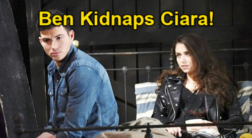 Days of Our Lives Spoilers: Ben Kidnaps Ciara, Takes Wife Back to Cabin – Huge Risk to Restore Missing Memories?