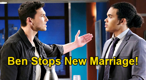 Days of Our Lives Spoilers: Ben Refuses to Let Theo Marry Ciara - New Husband News Brings Fight for Love?