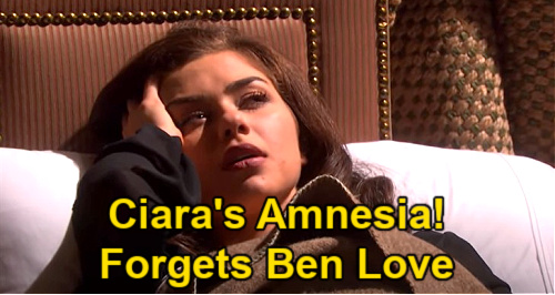 Days of Our Lives Spoilers: Ciara Can't Remember Ben Love Story - Wakes Up with Amnesia After Explosion?
